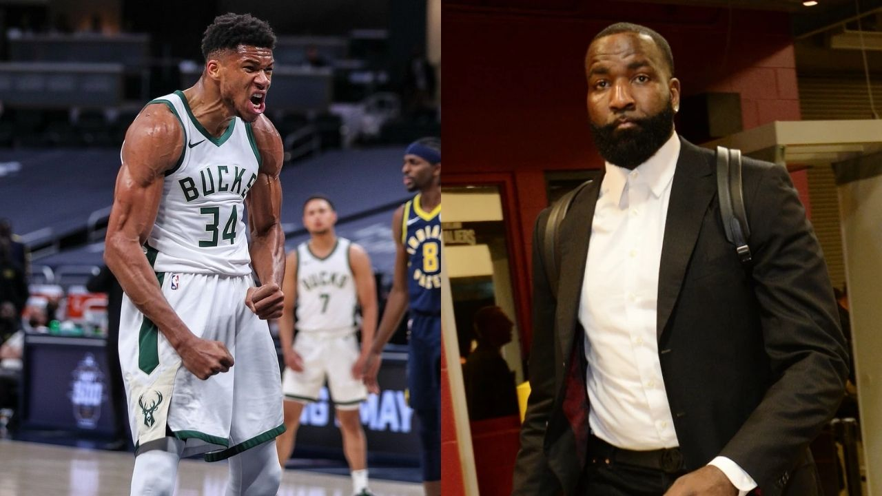 """""""Giannis Antetokounmpo went from Robin to the most dominant player in the league?"""": NBA Twitter cannot handle Kendrick Perkins and his drastic change in opinion about the Bucks superstar"""