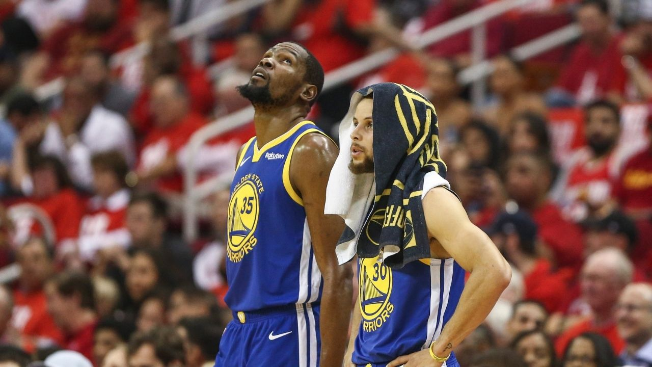 """""""Kyrie Irving needs a better team around him"""": Kevin Durant fires back at hater on Twitter with a 'man with no bed' picture for mocking his 73-9 Warriors decision"""