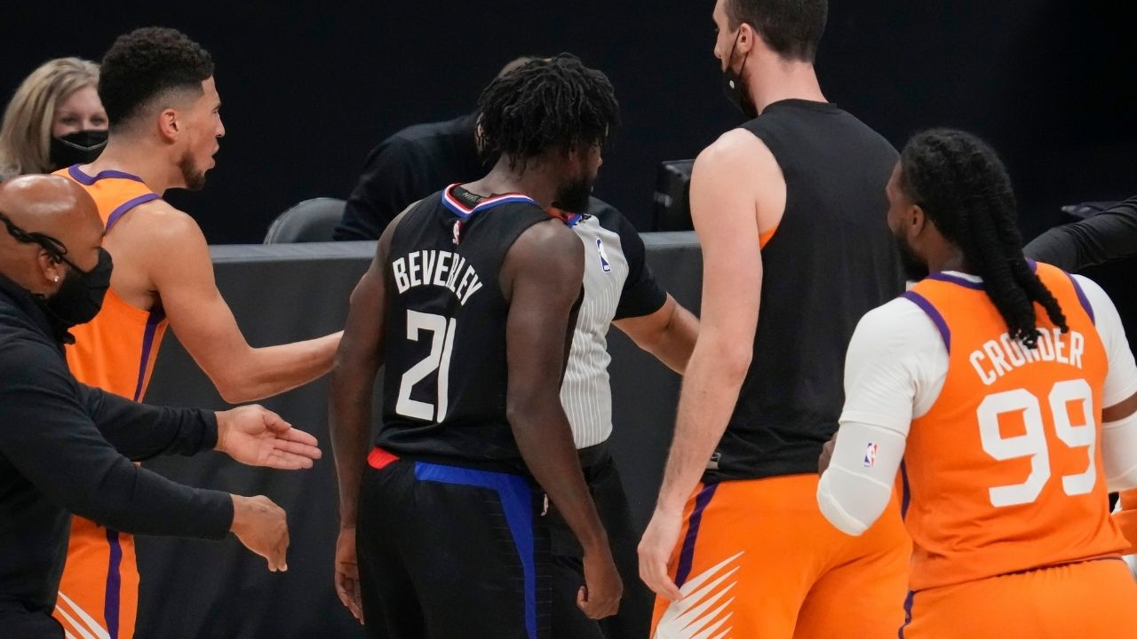 """""""Chris Paul, emotions got the best of me last night"""": Patrick Beverley apologizes for unsportsmanlike shove on the Suns star with his back turned, leading to his ejection in Clippers' Game 6 loss"""