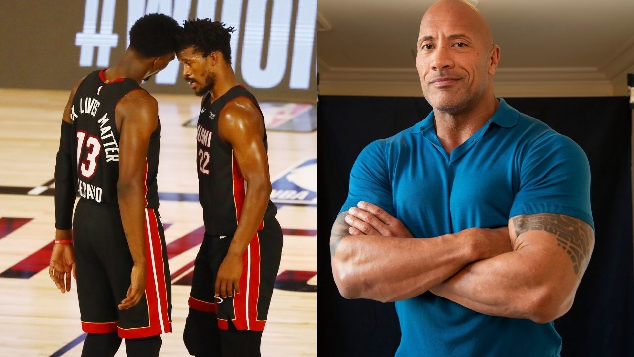 """""""Dwayne Johnson invites Heat stars Jimmy Butler and Bam Adebayo on a cruise"""": Miami's All-Star duo and Hollywood megastar come together for a hilarious promotional video"""