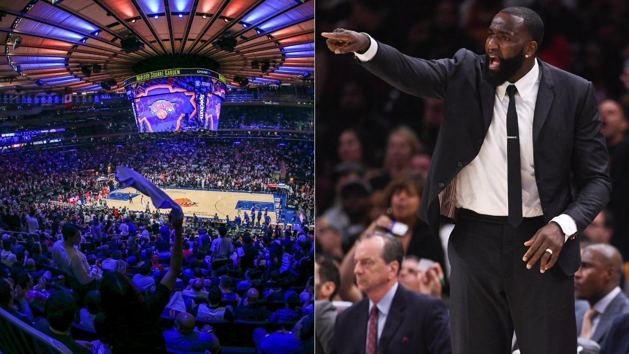 """""""The New York Knicks has the best playoff atmosphere in all of sports"""": Kendrick Perkins explains how the MSG has a electrifying atmosphere because of their loud fans"""