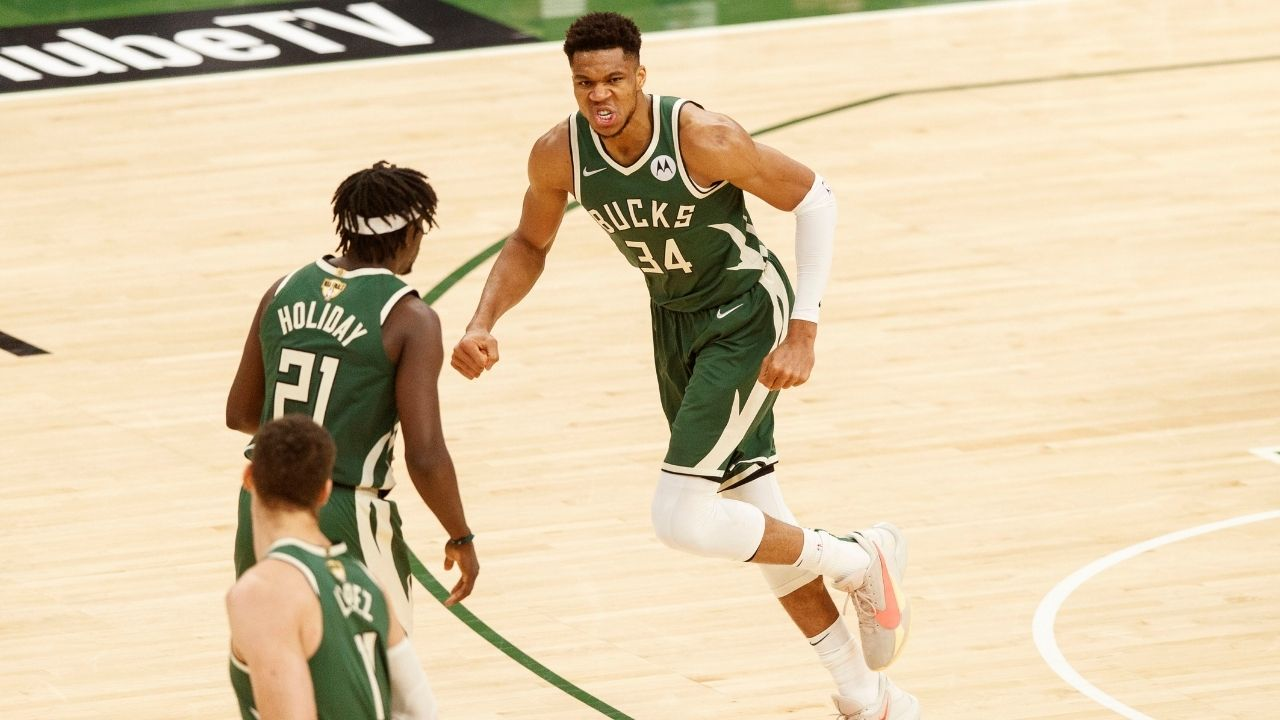 """""""Giannis Antetokounmpo joins Michael Jordan, LeBron James and Kevin Durant"""": The Greek Freak puts himself among special company, following a huge performance in Game 3 of the Finals vs the Suns"""