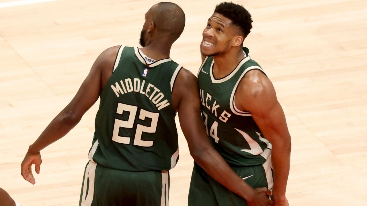 """""""Giannis and I hated each other on the court"""": Khris Middleton reveals how the Milwaukee Bucks' 2 most important players one-upped each other in their early days together"""