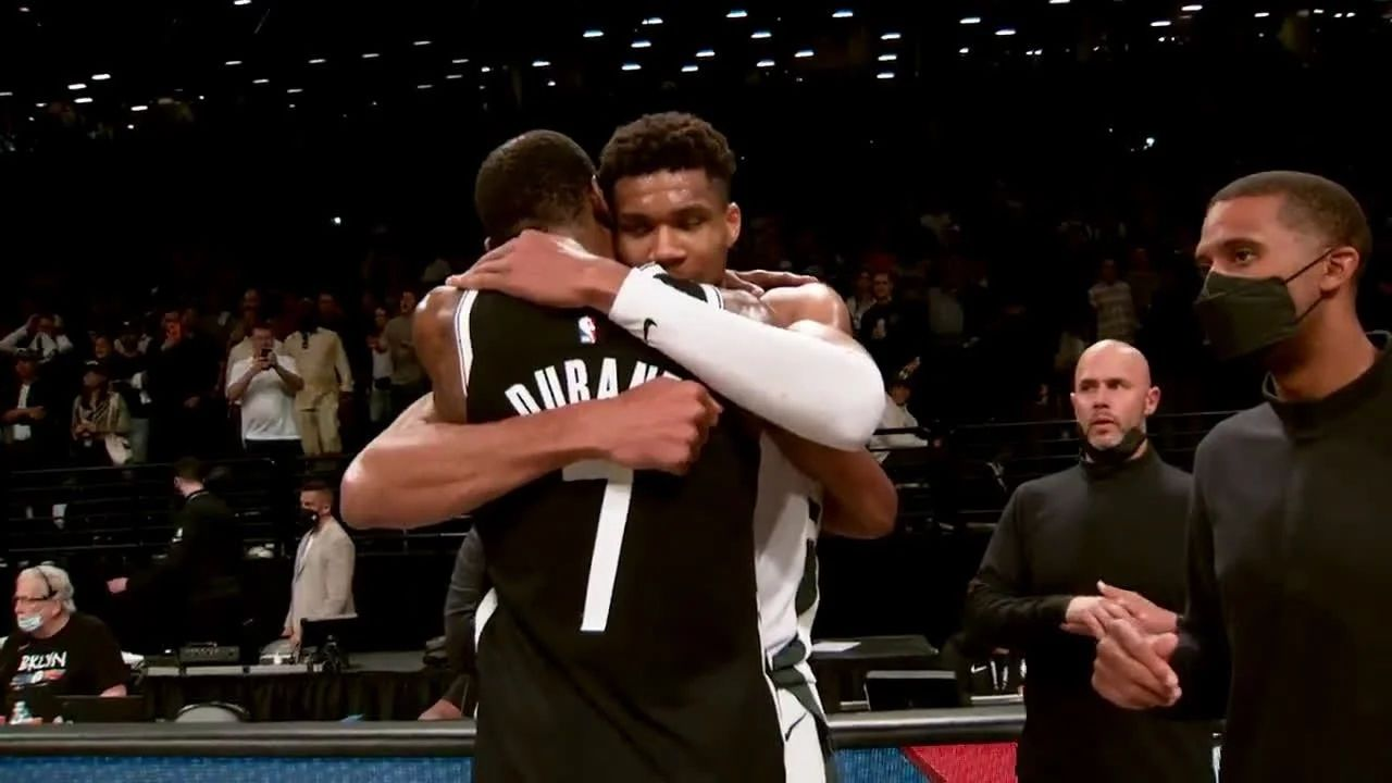 """""""Kevin Durant congratulates 2021 NBA champions Milwaukee Bucks"""": The 2x NBA champion and Finals MVP applauds the efforts of Giannis and co"""