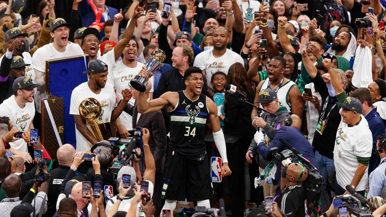 """""""Joining a super team would've been the easy way, but this is the hard way"""": Giannis Antetokounmpo takes a subtle shot at Kevin Durant and LeBron James after winning the 2021 NBA championship"""