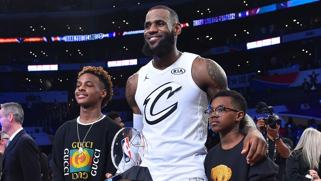 """""""Bronny James replies to a troll calling his Bryce James' moves weak a**"""": Savannah and LeBron jumped in to berate a hater commenting on footage of the Lakers star's son"""