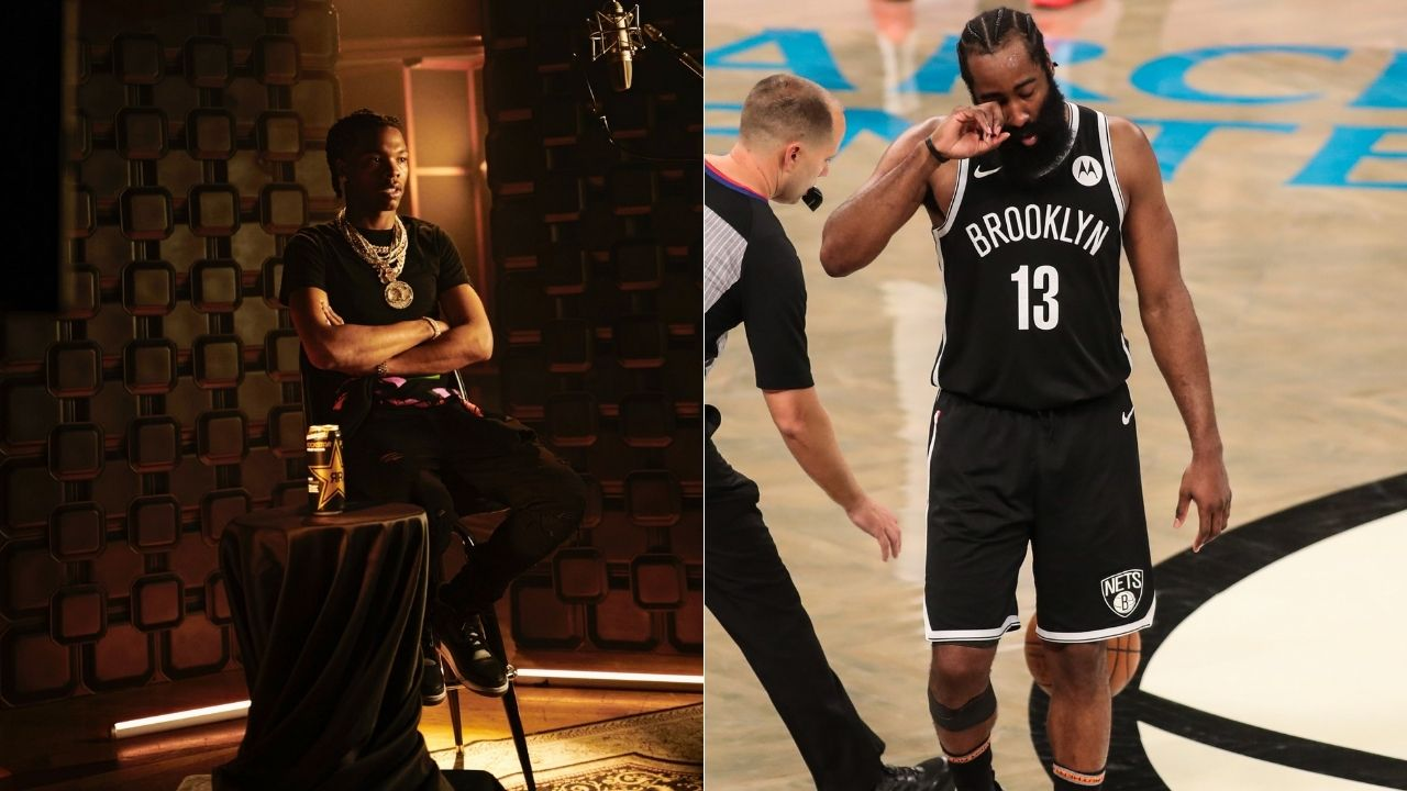 """""""James Harden out partying with Lil Baby while Giannis dropped 50 pts in the NBA Finals"""": NBA Fans mock 'The Beard' after being spotted at Miami for the Rolling Loud music festival"""