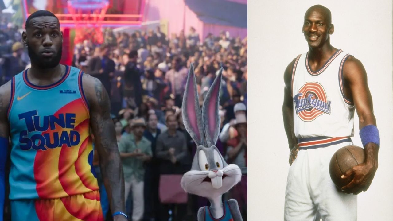 """""""Look who I found in the stands!"""": How Sylvester found Michael Jordan to help LeBron James and the Tune squad in Space Jam: A New Legacy"""