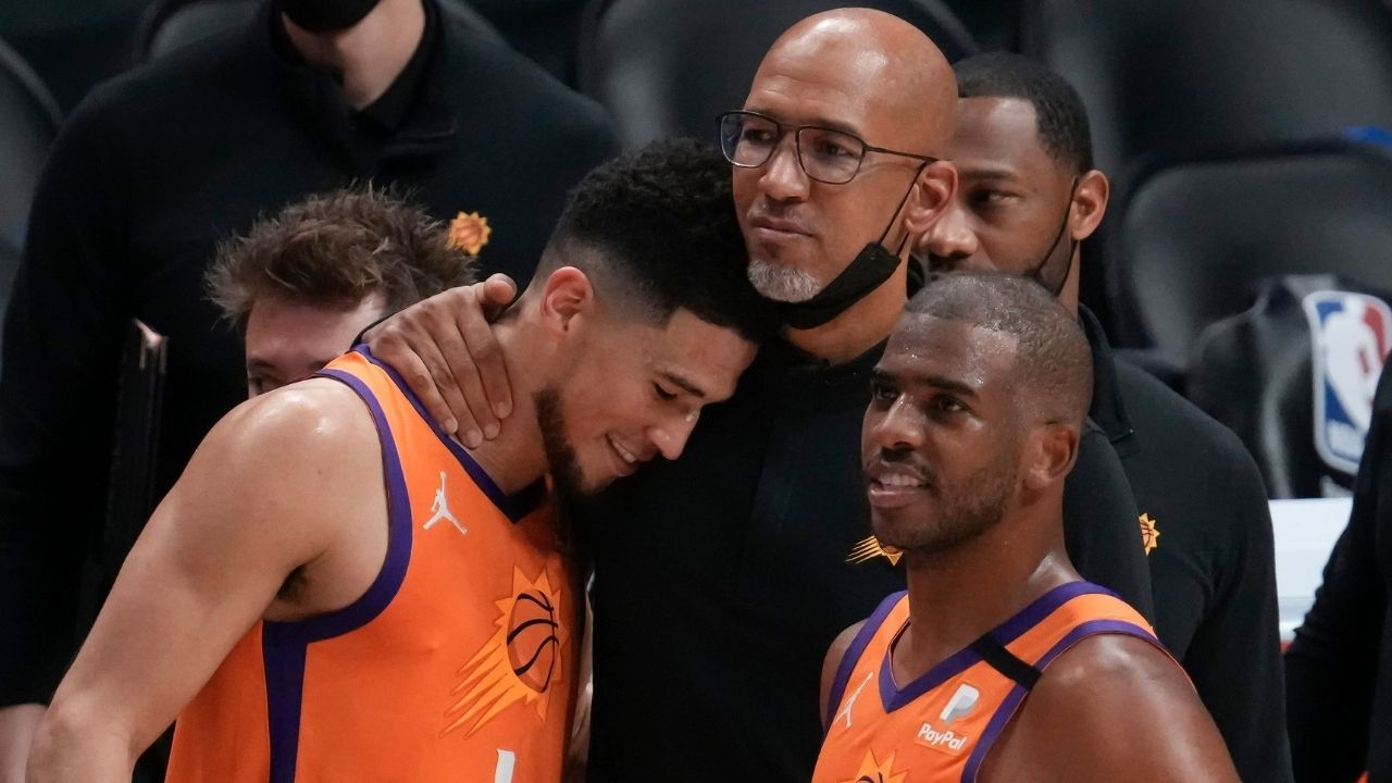"""""""Devin Booker, how frustrated are you for Chris Paul?"""": Suns stars deflect an awkward question in NBA Finals post-game interviews after Game 5 loss"""