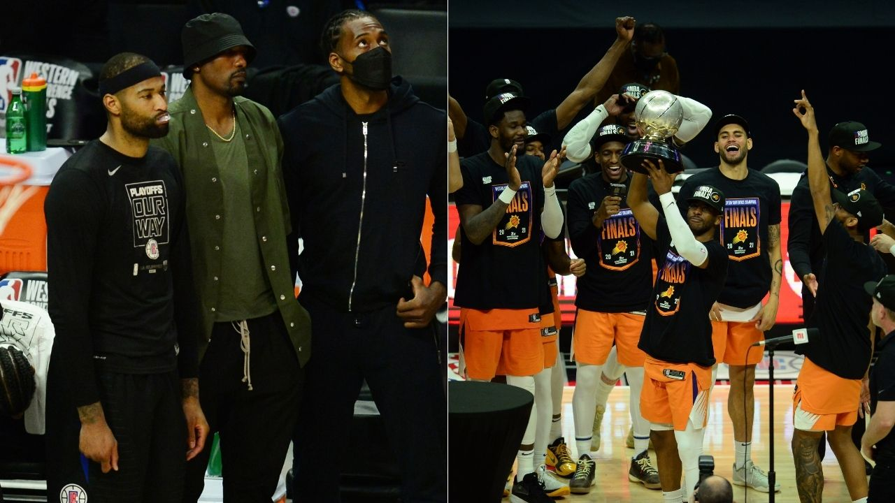 """""""Chris Paul, this why nobody likes yo weak a**"""": DeMarcus Cousins taunts Suns star from the bench as they win Game 6 and qualify for 2nd ever NBA Finals series"""
