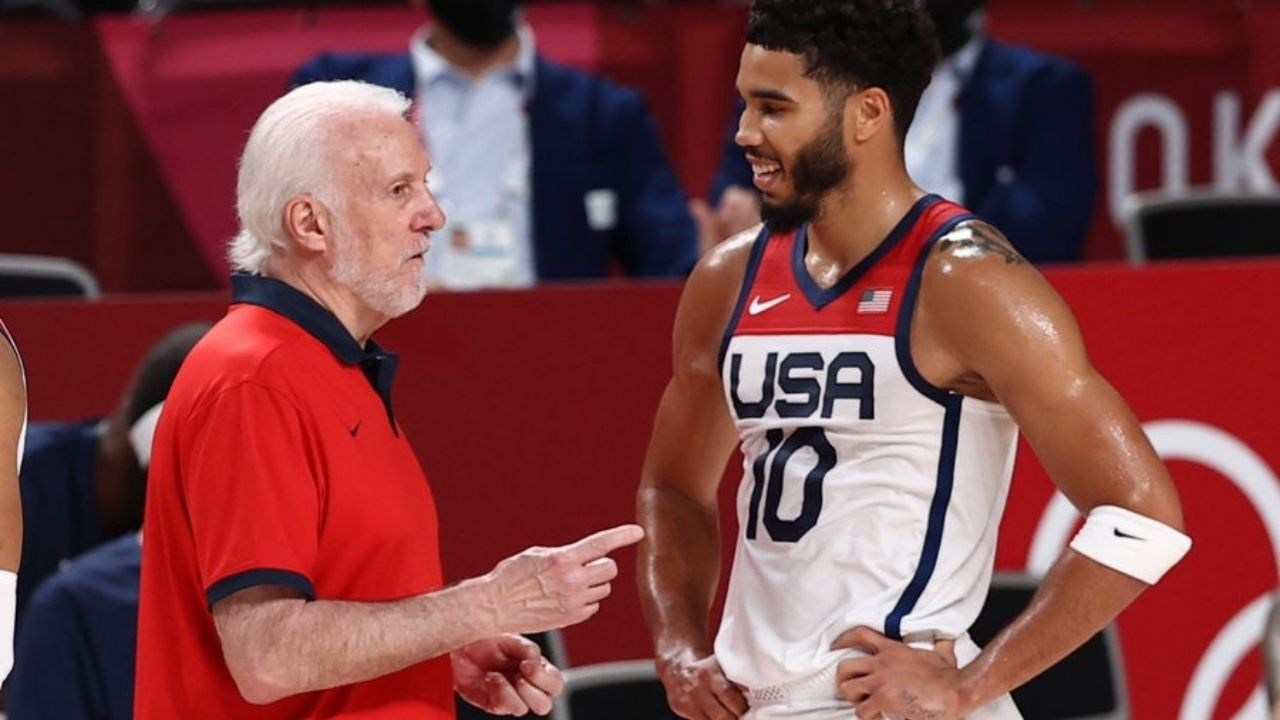 """""""I told Jayson Tatum to act like he's playing the Spurs cause he scores 90 when he plays us"""": Gregg Popovich hilariously reveals what he told Team USA forward right before their Olympic matchup against Czech Republic"""