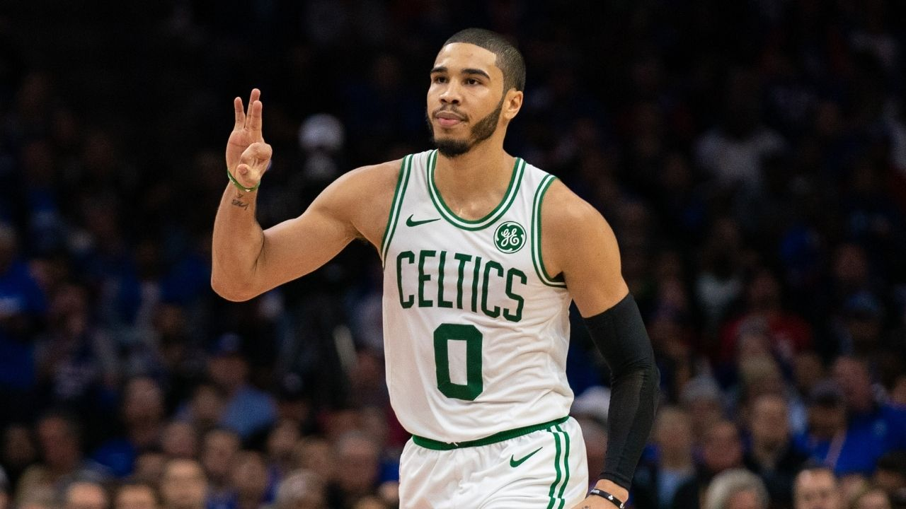 """""""I think I'm top 5"""": Jayson Tatum hilariously joked about his haircut Mic'd Up ahead of Celtics vs Sixers in 2019"""