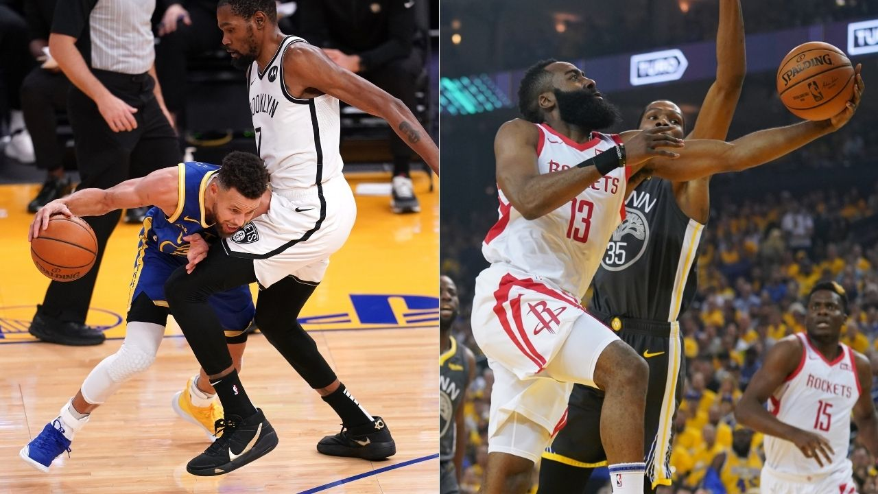 """""""James Harden didn't get doubled like Stephen Curry?"""": Kevin Durant was dumbfounded by a Warriors fan's basketball takes"""
