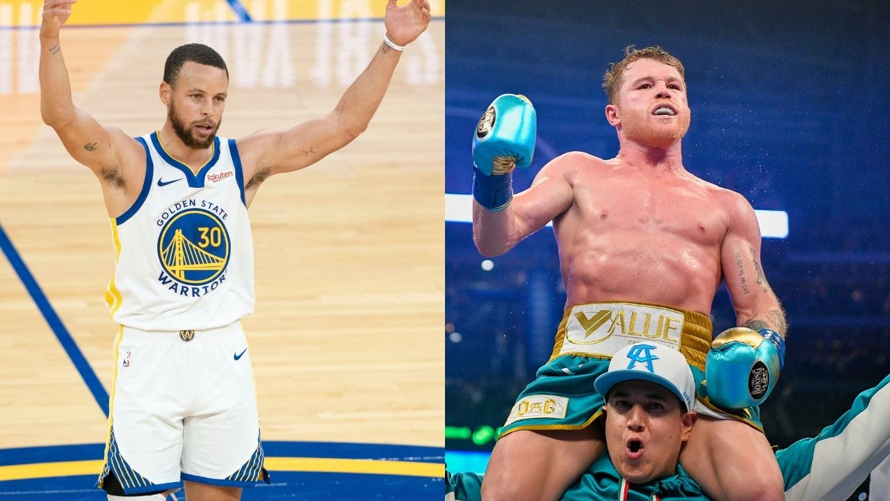 """""""Canelo almost knocked out Steph Curry"""": Warriors MVP has a sparring session with the former world champion when on the golf course"""
