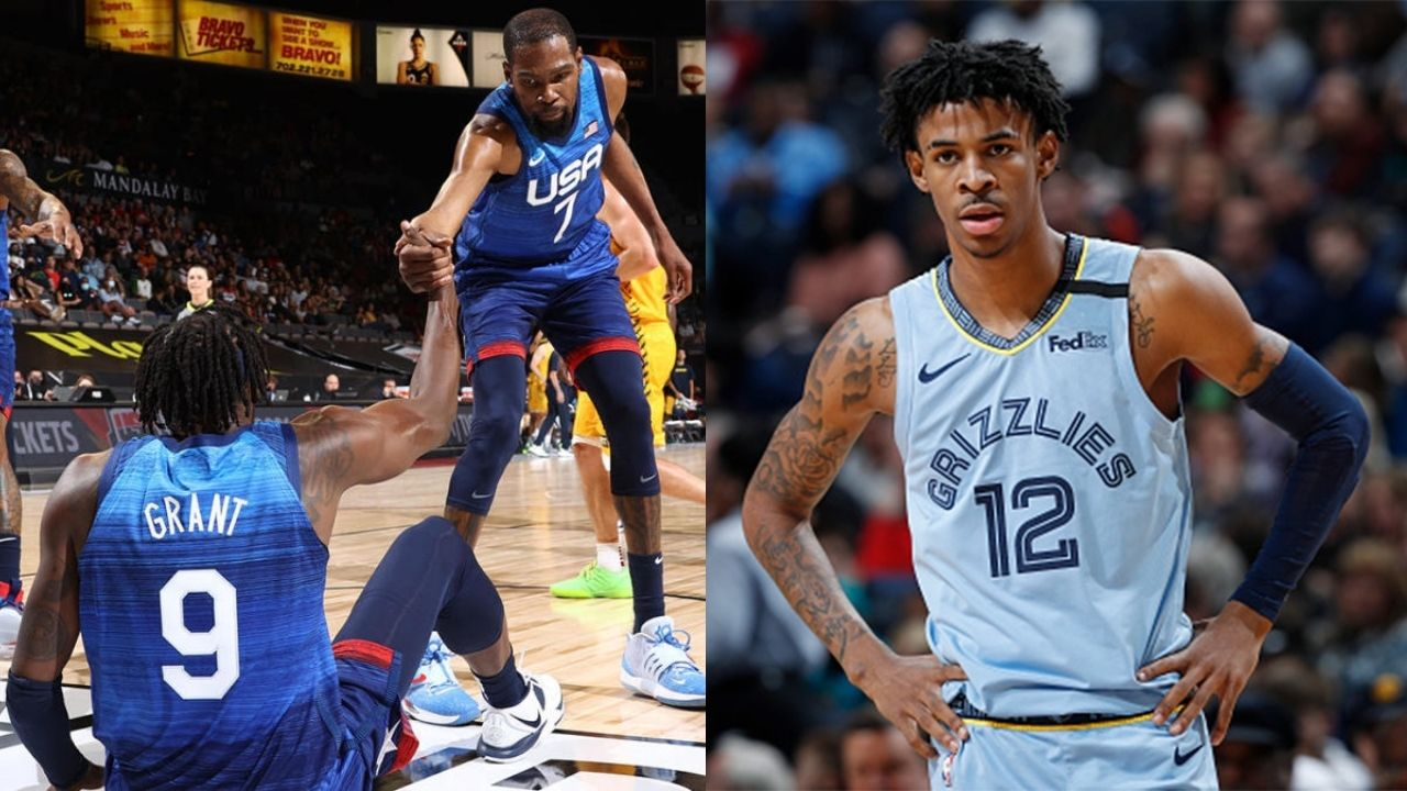 """""""What's going on with Team USA?"""": Grizzlies' star JA Morant has a shocked reaction after learning Australia beat Team USA 91-83"""