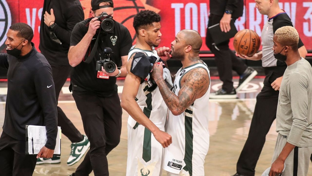 """""""Giannis is really funny, he'll say anything"""": PJ Tucker gushes about the Milwaukee Bucks' 2-time MVP as a teammate who's always upbeat and joking ahead of NBA Finals Game 1 vs Phoenix Suns"""
