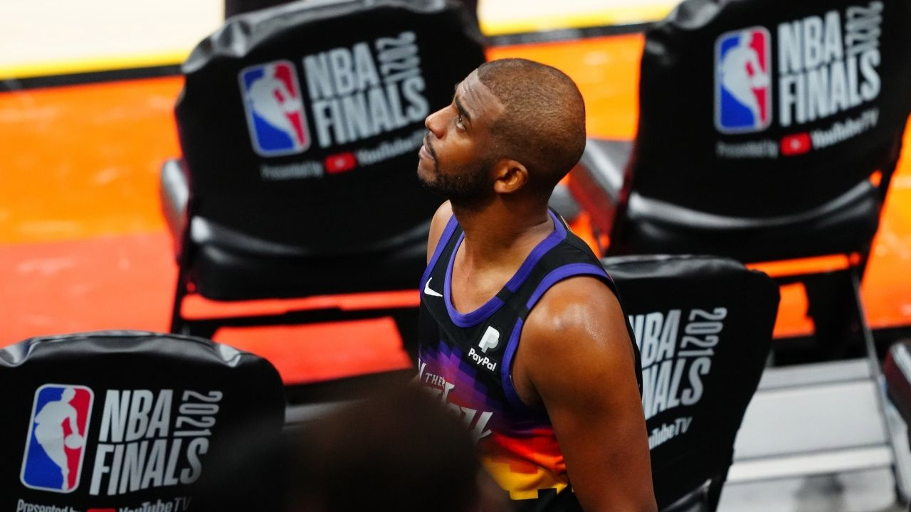 """""""Chris Paul, how about a team-up with LeBron James and the Lakers?"""": Magic Johnson makes a dream-like proposition to the Point God after the Suns lose to the Bucks in 6 games"""