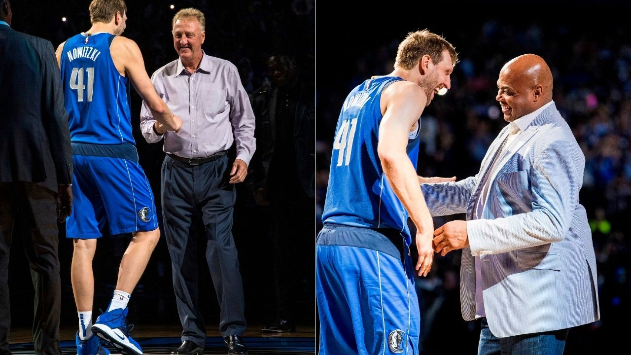 """""""A cast of characters, different personalities and Charles Barkley"""": Larry Bird's hilarious trash talk shone through even in his Dream Team Hall of Fame induction speech"""