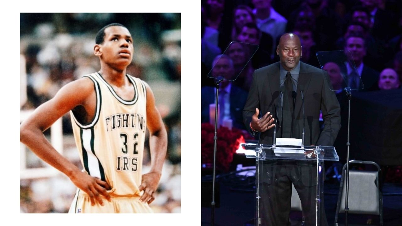 """""""Can LeBron James take legendary status?"""": How the 4-time MVP was compared to Michael Jordan, Kareem Abdul-Jabbar and Larry Bird in his high school game intro"""