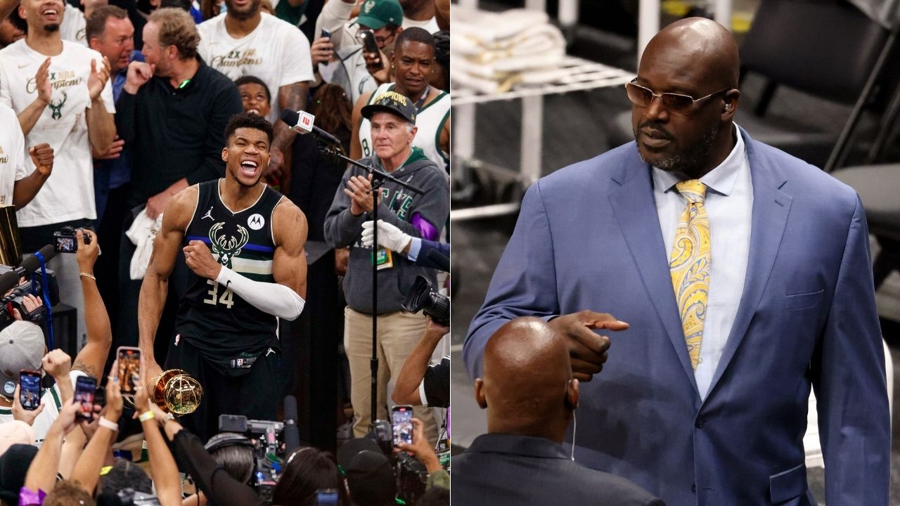 """""""It's only one Superman now and that's Giannis Antentokounmpo"""": Shaquille O' Neal reveals the reasons behind passing his name to the Greek Freak"""