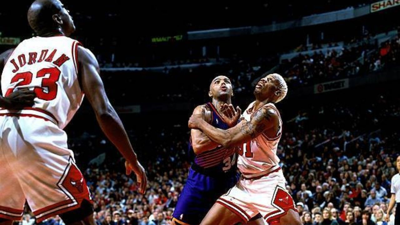 """""""Michael Jordan had to hold Dennis Rodman back against Charles Barkley"""": When the 'Round Mound of Rebound' held his own against the Bulls legends"""