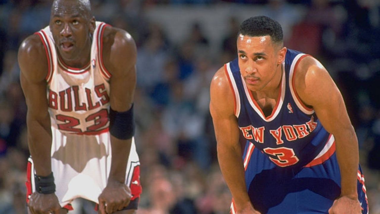 """""""Michael Jordan was actually easier to guard than Reggie Miller and Clyde Drexler"""": John Starks' shocking reasons why he had an easier time guarding the Bulls legend"""