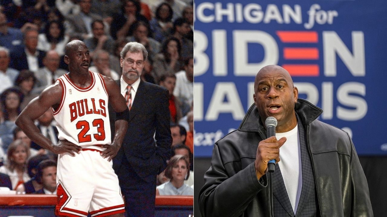 """""""Chicago Bulls relied on Michael Jordan too much"""": Magic Johnson believes his Lakers with Kareem Abdul-Jabbar in the mid-80s would've beaten any version of Jordan's Bulls"""