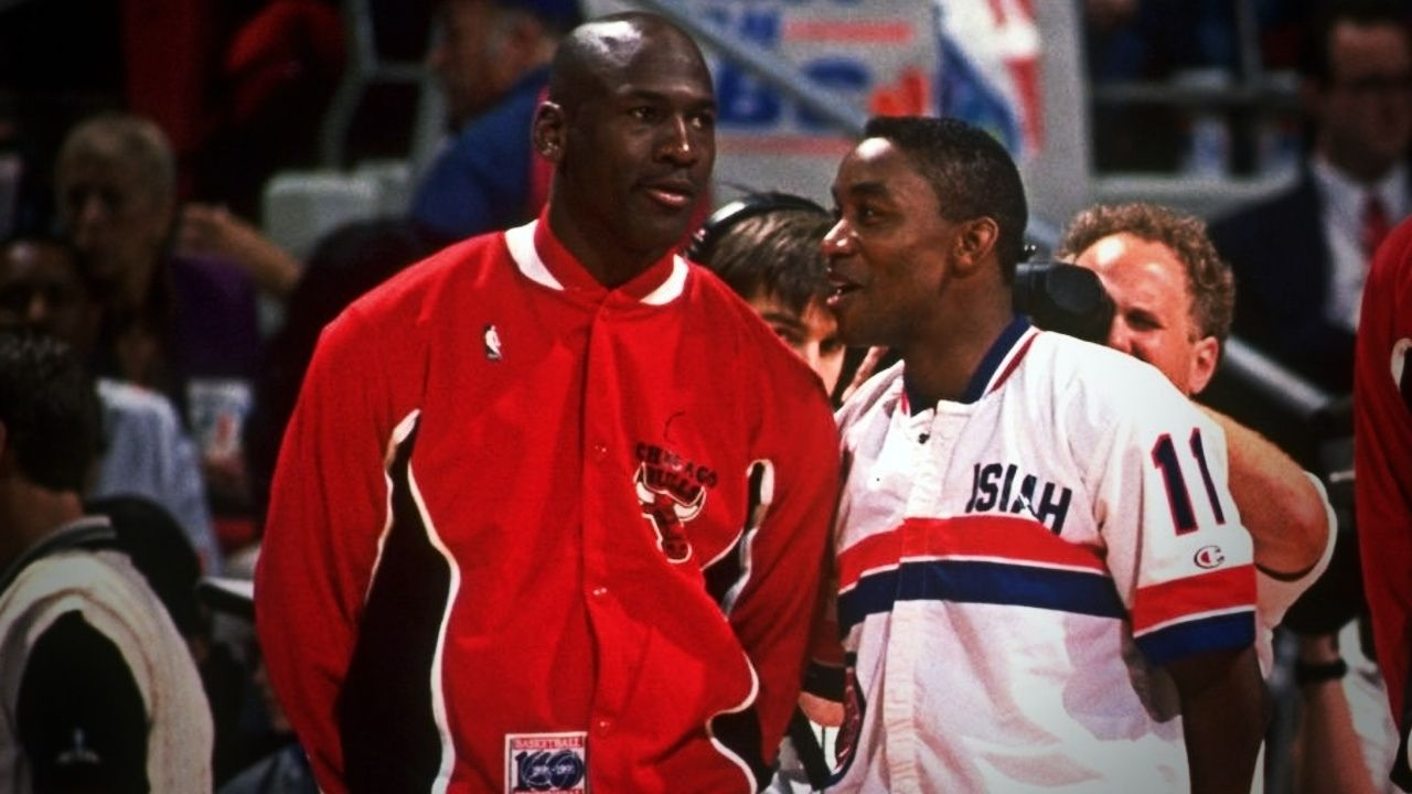 """""""Isiah Thomas and co didn't have to shake our hands to know we whipped their a**"""": Michael Jordan expected the Pistons to walk off following the Bulls sweep in 1991"""