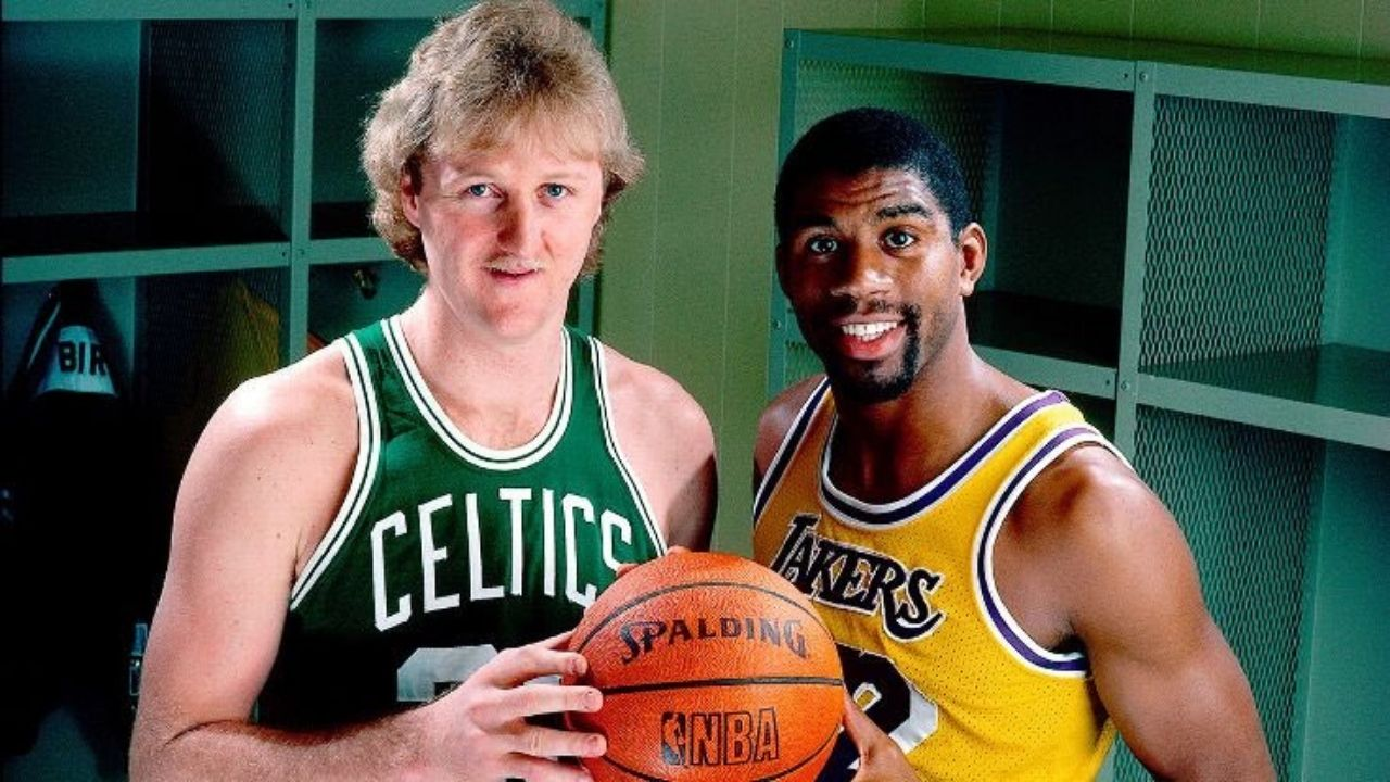 """""""Magic Johnson and I were crutches for each other... I needed him to be there"""": Celtics legend Larry Bird talks about the role the Lakers' legend played in his career and development"""
