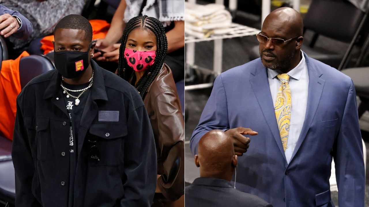 """""""Shaq wasn't impressed Dwyane Wade for having a terrible home"""": Heat legend defends his bachelor lifestyle and having a disorganized house in his young years as wife Gabrielle Union watches on"""
