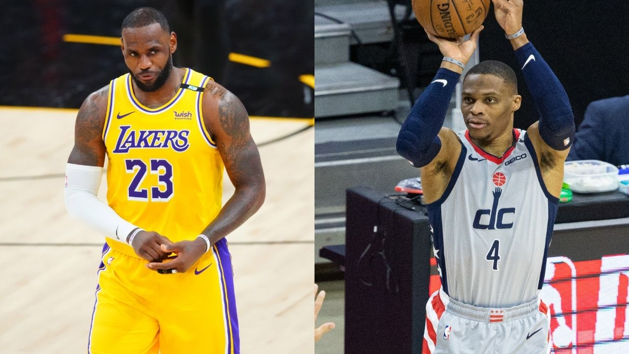 """""""Russell Westbrook can finally teach LeBron James rap lyrics"""": NBA fans hilariously look at the upside of 'Brodie' teaming up with Lakers MVP as the former lip-syncs to 'Gunna'"""
