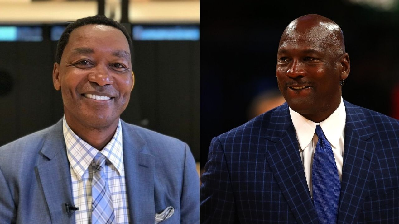 """""""Julius Erving is my boy, but Michael Jordan is real sweet!"""": When Isiah Thomas praised the Bulls legend as the greatest player he'd ever seen on the Arsenio Hall Show"""