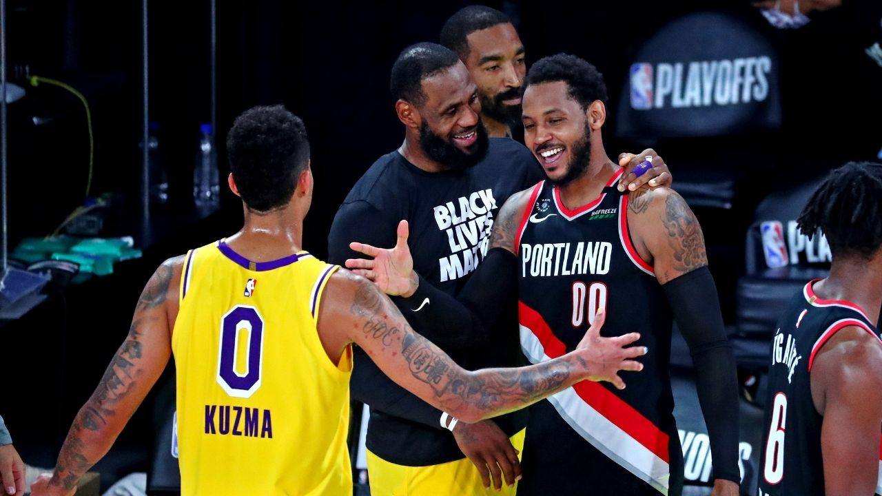 """""""LeBron James just came up and said now is the time"""": Carmelo Anthony reveals Lakers superstar's simple recruiting pitch for the Knicks legend ahead of his 19th NBA season"""