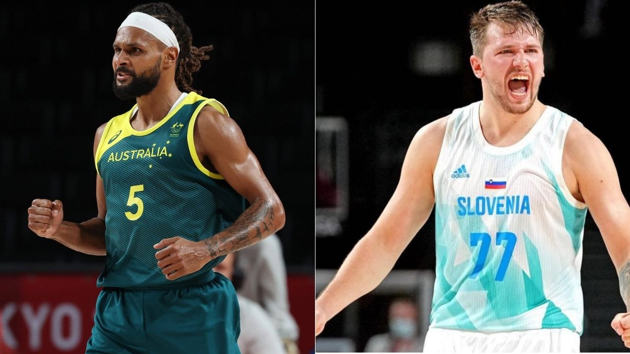 """""""FIBA Patty Mills vs Olympics Luka Doncic could only have 1 winner"""": NBA Twitter lauds the Australian and Slovenian superstars as the Boomers win their first-ever Olympic medal"""