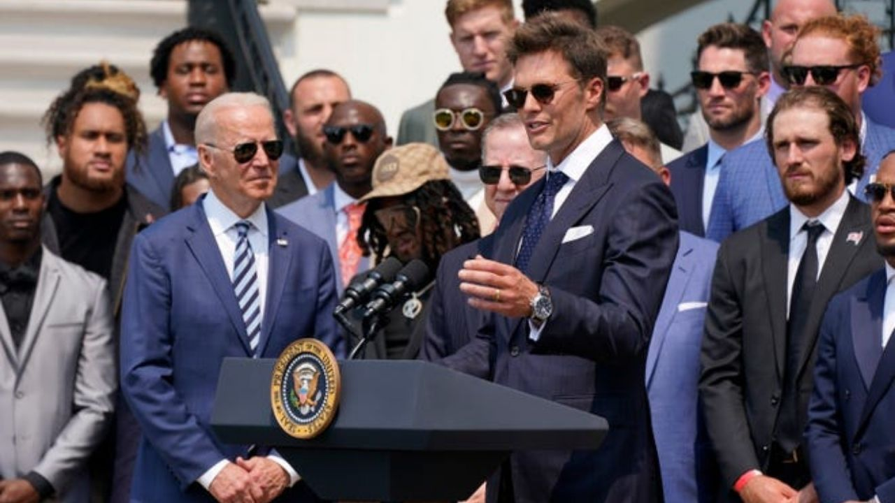 """""""It Was Really Fun That the President Laughed Along"""": Tom Brady Clears the Air Surrounding """"Sleepy Tom"""" Joke Directed at Joe Biden During Buccaneers White House Visit"""