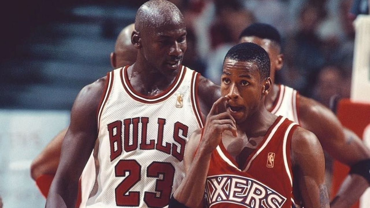 """""""Michael Jordan still hasn't forgiven Allen Iverson for crossing him over"""": Shannon Sharpe talks to the Sixers legend about hitting the 'GOAT' with his iconic crossover"""