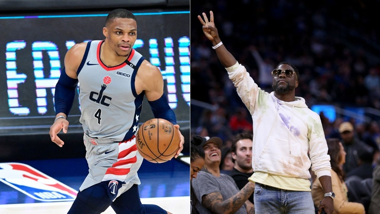 """""""Russell Westbrook looks happy as hell"""": NBA Twitter explodes after the Lakers' newest superstar was spotted partying with Kevin Hart in LA"""