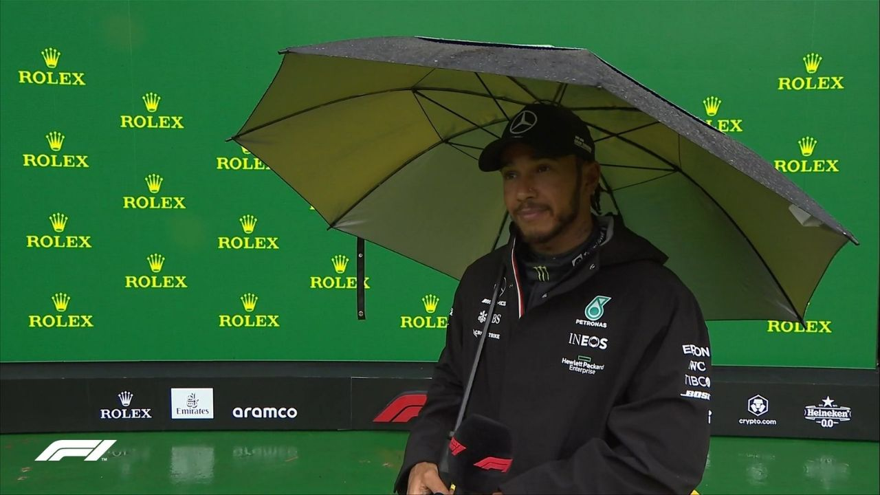 """""""Maybe it's not the best for today""""- Lewis Hamilton hopes his setup helps him to win on Sunday"""