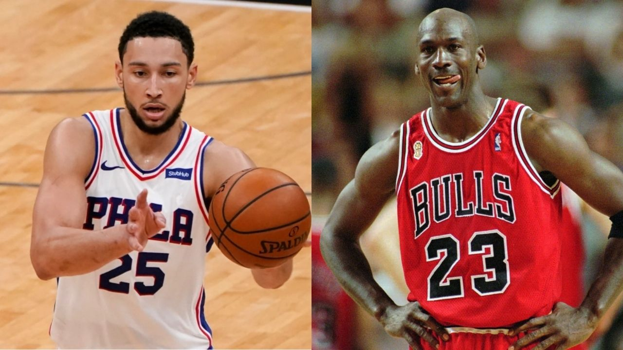 """Ben Simmons is a better playoff performer than Michael Jordan!"": Statistics show how the Sixers' star boasts a better TS% than the Bulls' legend"