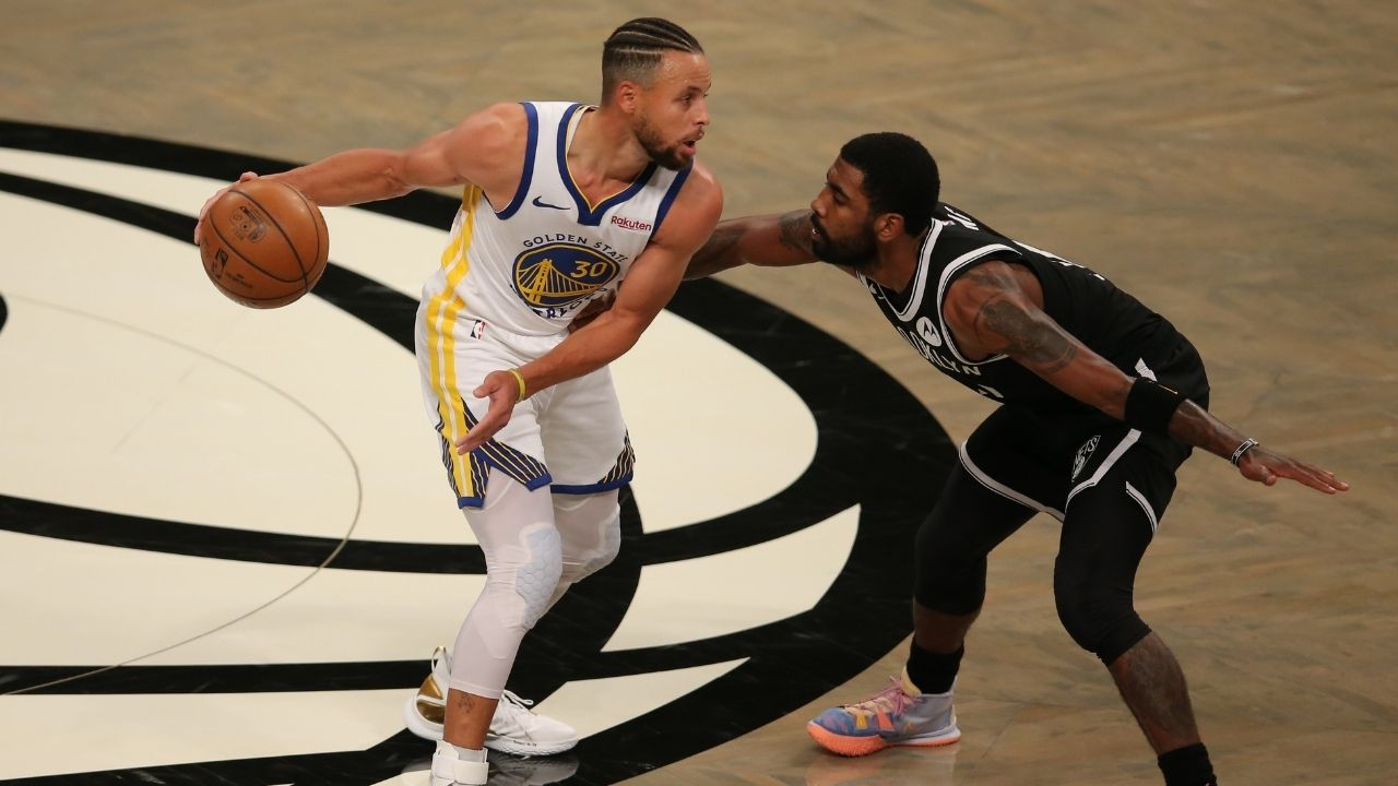 """""""Kyrie Irving is a better finisher, more skilled, but Steph Curry shoots better"""": Mike James continues to make his case why his former Nets teammate is on Mt Rushmore of skilled scorers"""