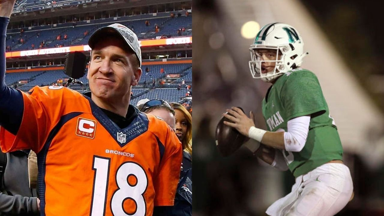 """""""No inside information on that"""": Peyton Manning has his lips sealed when it comes to nephew Arch Manning's recruitment process."""