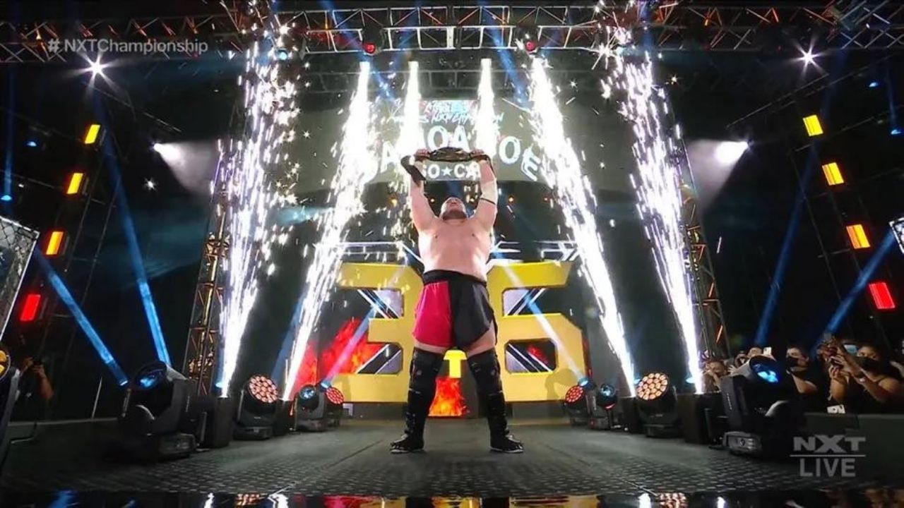 Samoa Joe Dethrones Karrion Kross to become three time NXT Champion at TakeOver 36