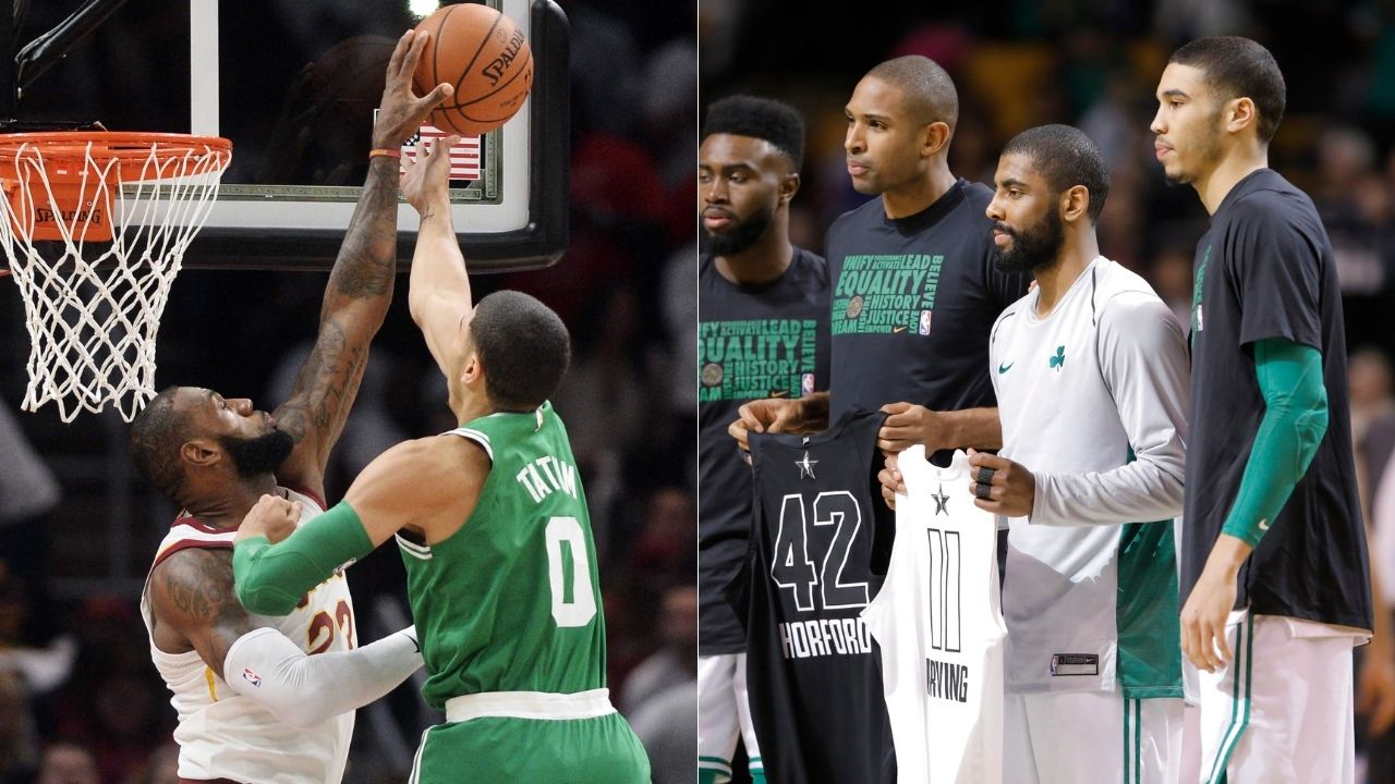 """""""LeBron James slapped away my layup after Kyrie Irving's pass"""": Jayson Tatum recalls his 'Welcome to the NBA' moment on Knuckleheads Podcast"""
