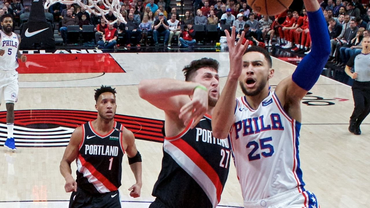 """""""Jusuf Nurkic talks a lot of sh*t for being a**"""": When Ben Simmons had a heated back and forth with Damian Lillard's teammate in a Sixers loss to the Blazers"""