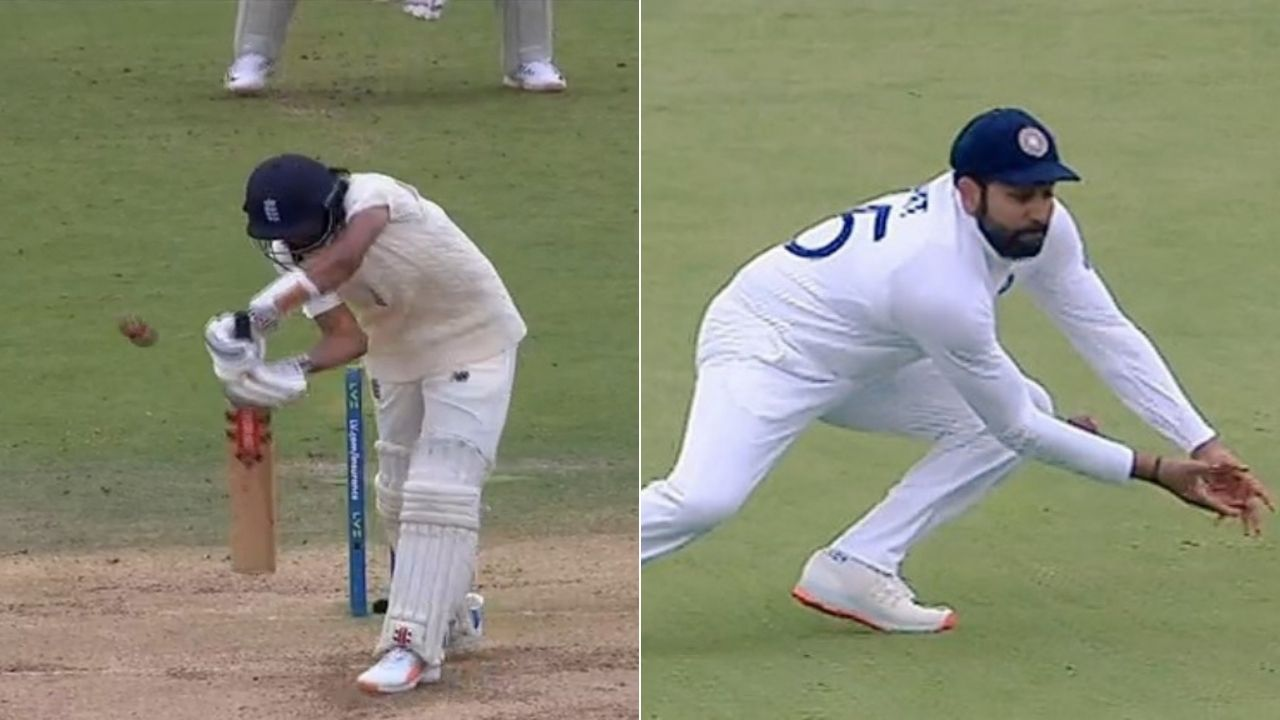 Rohit Sharma dropped catch today: Rohit puts down straightforward catch to hand Haseeb Hameed a reprieve off Mohammed Shami at Lord's