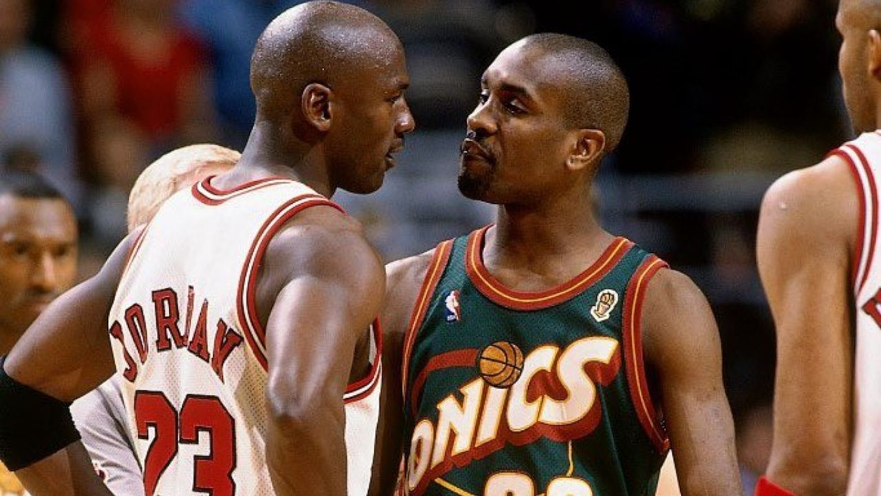 """""""Leave the f**king rookie to me"""": When Michael Jordan handed a trash-talking 22-year-old Gary Payton his 'Welcome to the NBA moment'. Source: Twitter (@balldontstop)"""