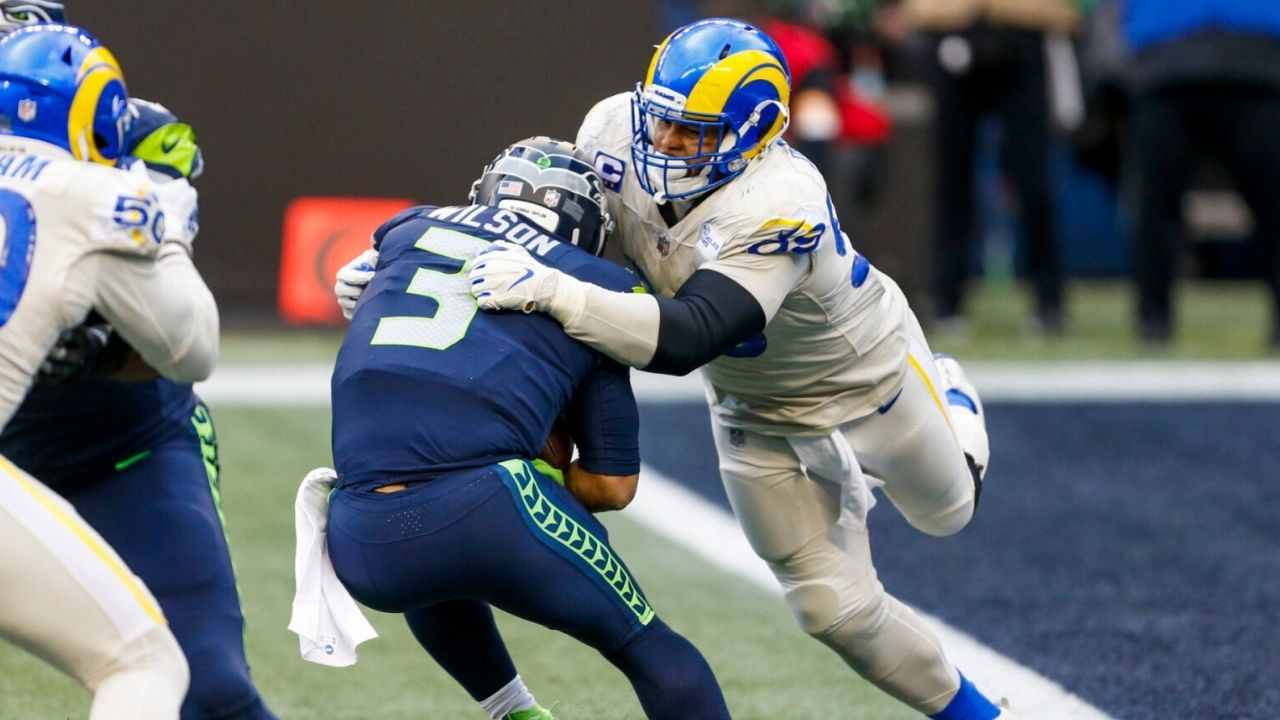 """""""Let's Send These B*tches Home!"""": When Aaron Donald Rallied the Rams to Playoff Victory Vs. the Seahawks By Taking Shots At Russell Wilson and DK Metcalf"""