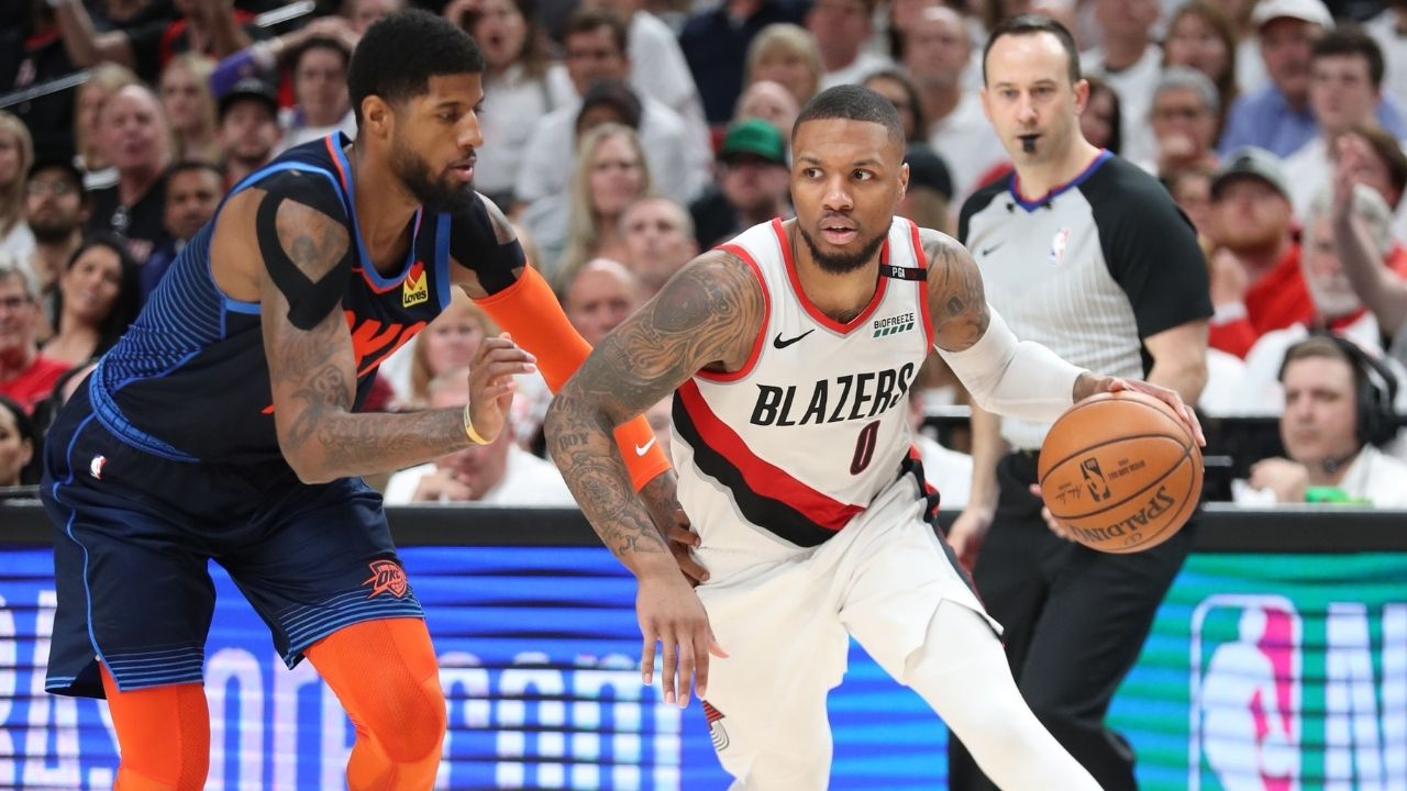 """""""Why is Paul George labelled a Playoff choker is he shoots better than Damian Lillard in the Playoffs?"""" Interesting NBA stat shows that the Clippers superstar trumps the Blazers MVP in a certain aspect"""