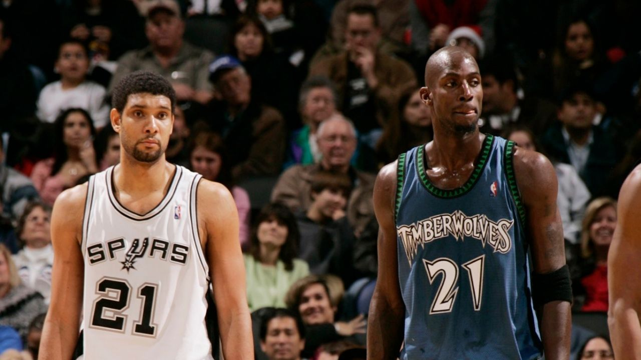 """""""Kevin Garnett and Tim Duncan were really the yin and yang of the NBA"""": Former NBA Champ discusses the difference between the Timberwolves and Spurs legend"""