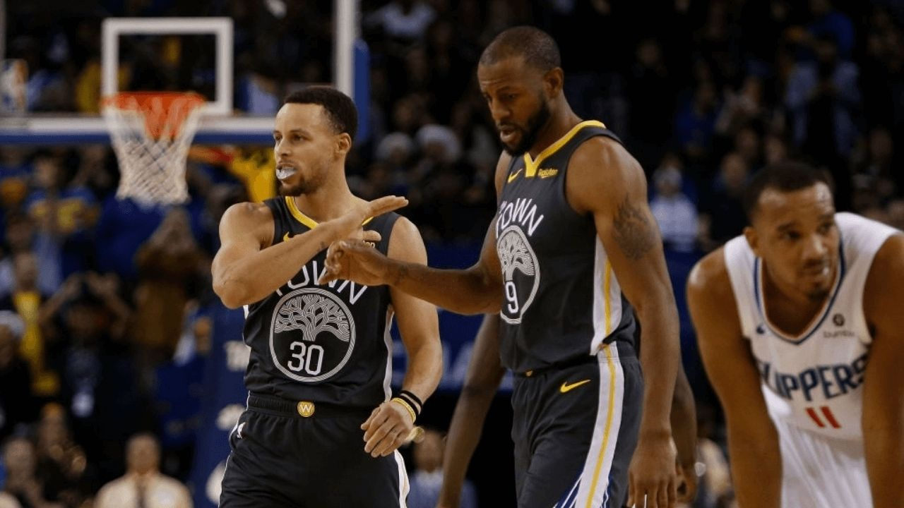 """""""You can just maul Stephen Curry and the referres won't call a thing"""": Andre Iguodala explains why he'd guard the Warriors' superstar over Allen Iverson in a refereed game"""